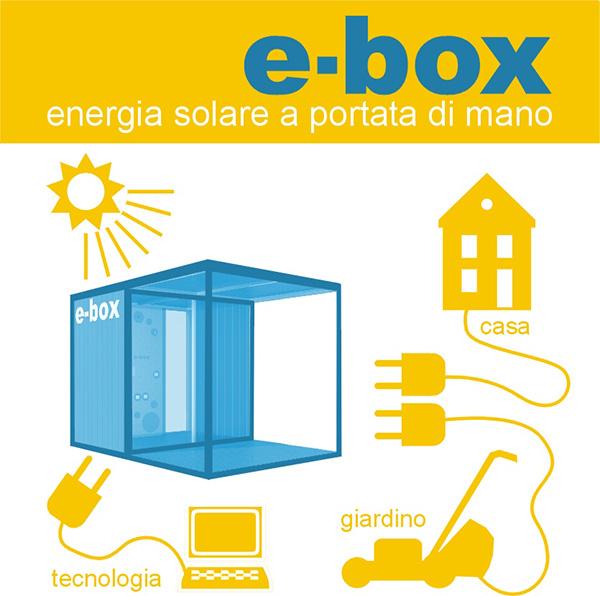 Blutecnica e-box è una 'casetta' che produce energia elettrica